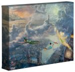 Tinker Bell and Peter Pan Fly to Neverland – 8″ x 10″ Gallery Wrapped Canvas