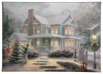 """Victorian Family Christmas - 10"""" x 14"""" Gallery Wrapped Canvas"""