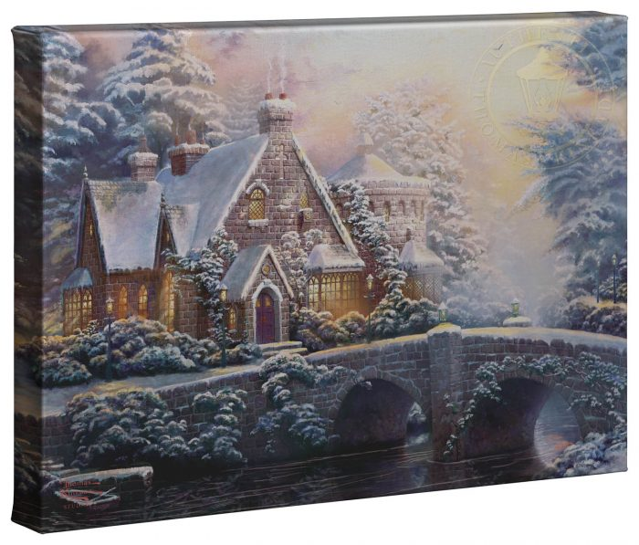 Winter At Lamplight Manor – 10″ x 14″ Gallery Wrapped Canvas