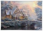 "Winter At Lamplight Manor - 10"" x 14"" Gallery Wrapped Canvas"