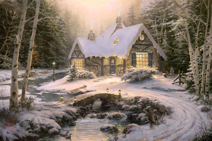 Winter Light Cottage – Limited Edition Art