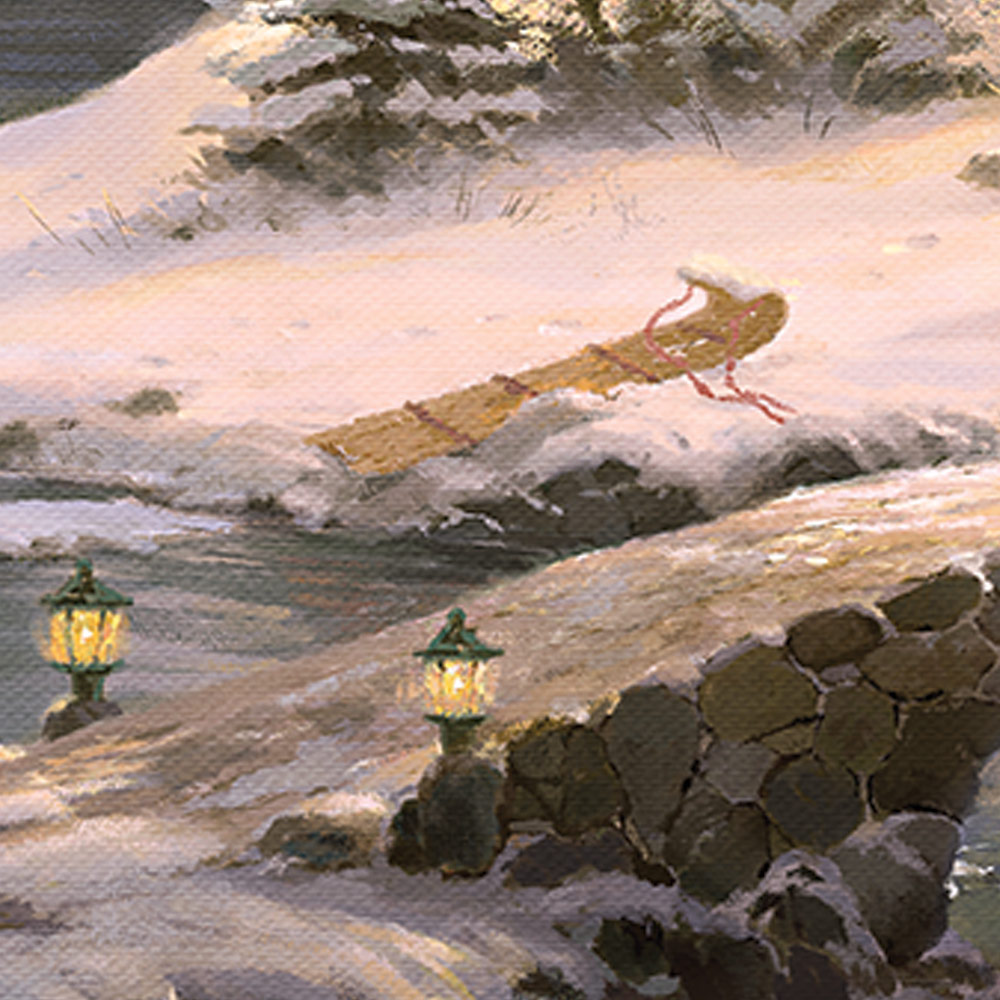 Winter Light Cottage – Limited Edition Canvas