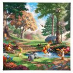 "Winnie the Pooh I - 14"" x 14"" Gallery Wrapped Canvas"