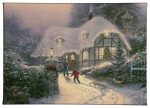 "Christmas Cottage Homecoming - 10"" x 14"" Gallery Wrapped Canvas"