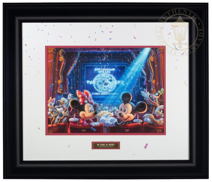 90 Years of Mickey – 21″ x 24.5″ Framed Print (Black Frame)
