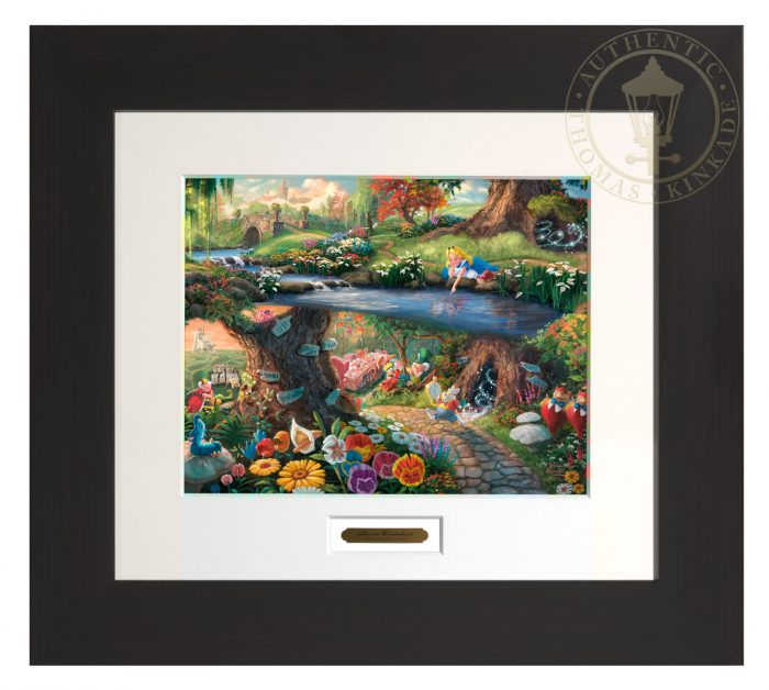 Disney Alice in Wonderland – 22″ x 24.5″ Modern Home Collection (Espresso Frame)