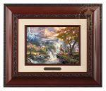 Bambi's First Year – 10.5″ x 12.5″ Brushwork (Brushworks Brandy Frame)