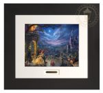 Beauty and the Beast Dancing in the Moonlight – 22″ x 24.5″ Modern Home Collection (Espresso Frame)