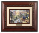Beauty and the Beast Falling in Love – 10.5″ x 12.5″ Brushwork (Brushworks Brandy Frame)