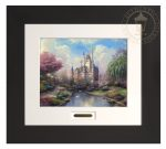 A New Day at the Cinderella Castle – 22″ x 24.5″ Modern Home Collection (Espresso Frame)
