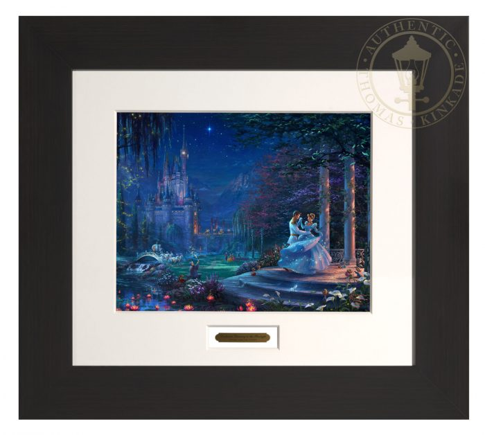 Cinderella Dancing in the Starlight – 22″ x 24.5″ Modern Home Collection (Espresso Frame)