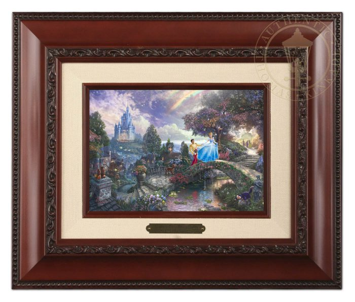 Cinderella Wishes Upon a Dream – 10.5″ x 12.5″ Brushwork (Brushworks Brandy Frame)