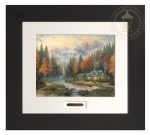 Evening at Autumn Lake – 22″ x 24.5″ Modern Home Collection (Espresso Frame)