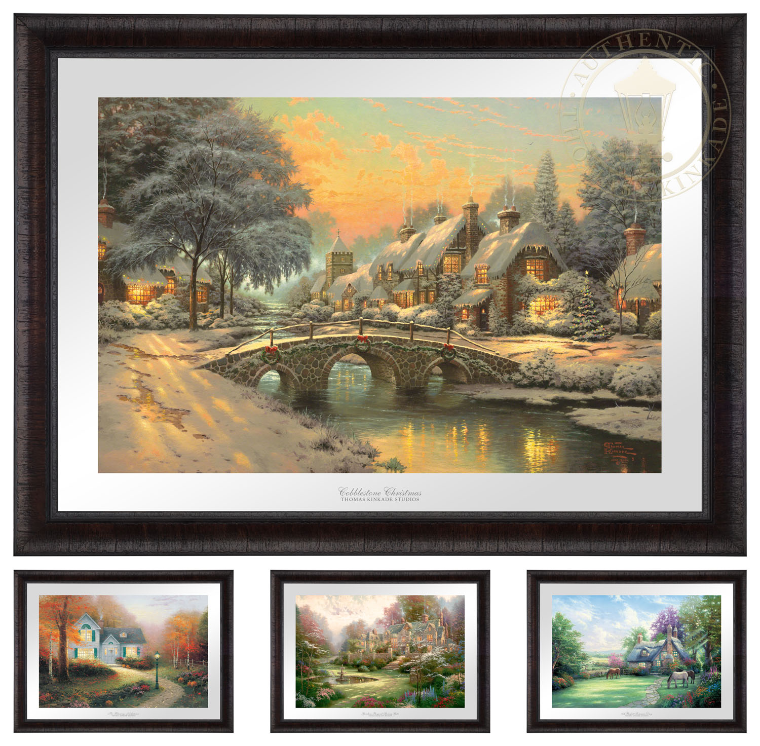 Ez Frame With Four Seasonal Images 26 X 35 Framed Prints Rustic