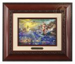 The Little Mermaid – 10.5″ x 12.5″ Brushwork (Brushworks Brandy Frame)