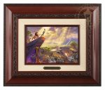 The Lion King – 10.5″ x 12.5″ Brushworks (Brushworks Brandy Frame)