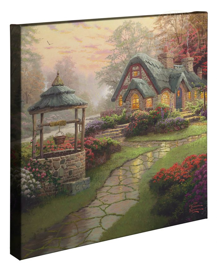 Make a Wish Cottage – 20″ x 20″ Gallery Wrapped Canvas