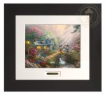 Disney Mickey and Minnie – Sweetheart Bridge – 22″ x 24.5″ Modern Home Collection (Espresso Frame)