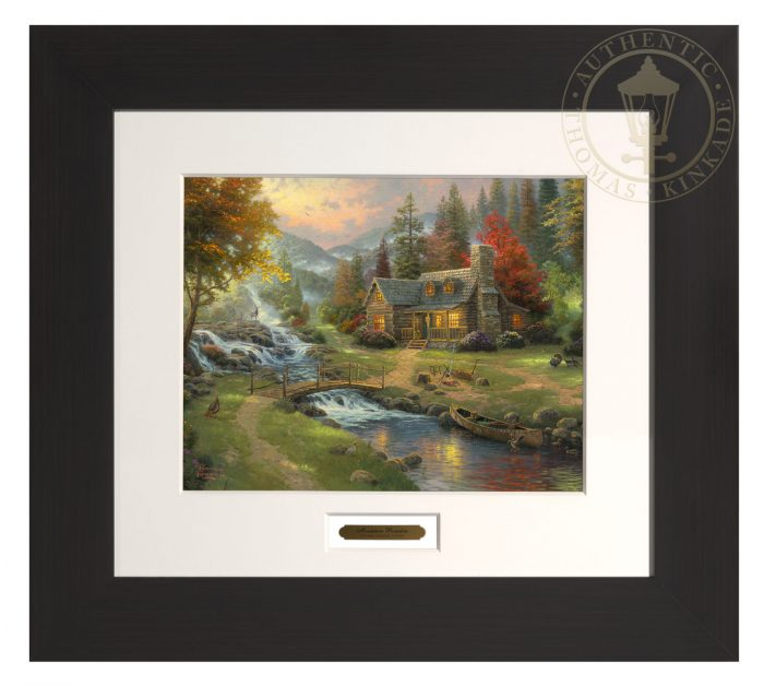 Mountain Paradise – 22″ x 24.5″ Modern Home Collection (Espresso Frame)