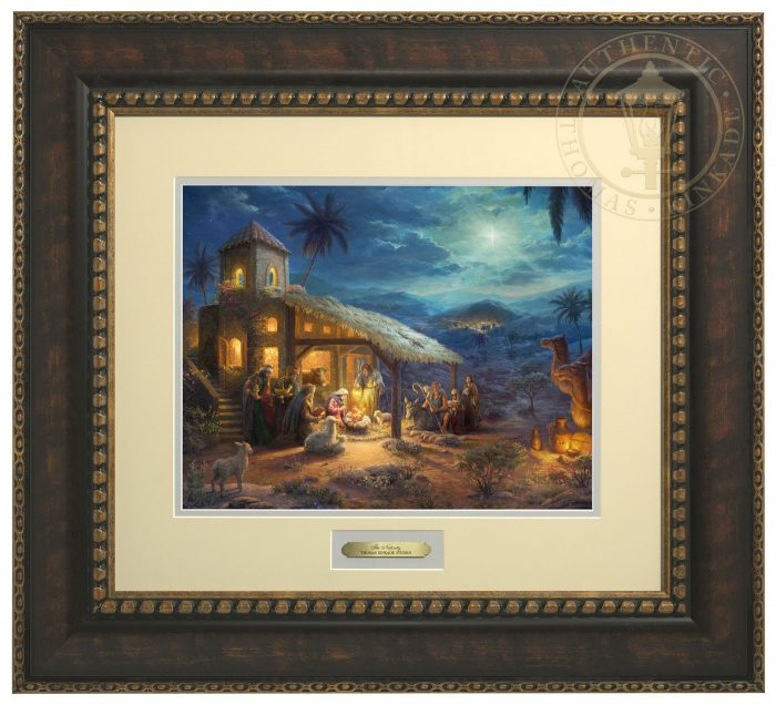 The Nativity – 23″ x 25.5″ Prestige Home Collection (Bronzed Gold Frame)