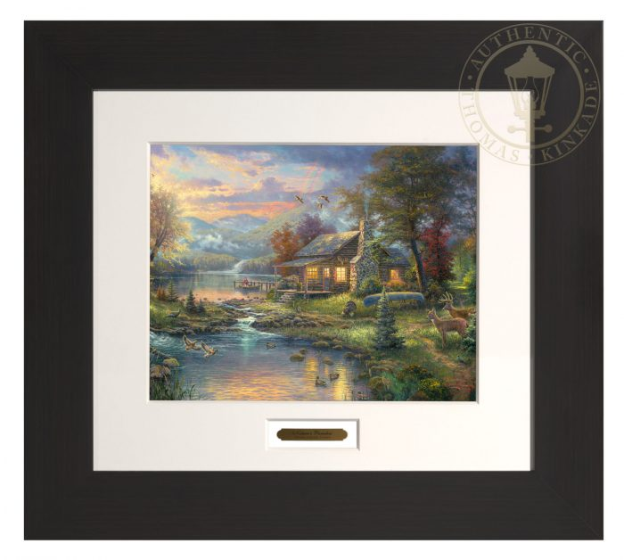 Nature's Paradise – 22″ x 24.5″ Modern Home Collection (Espresso Frame)