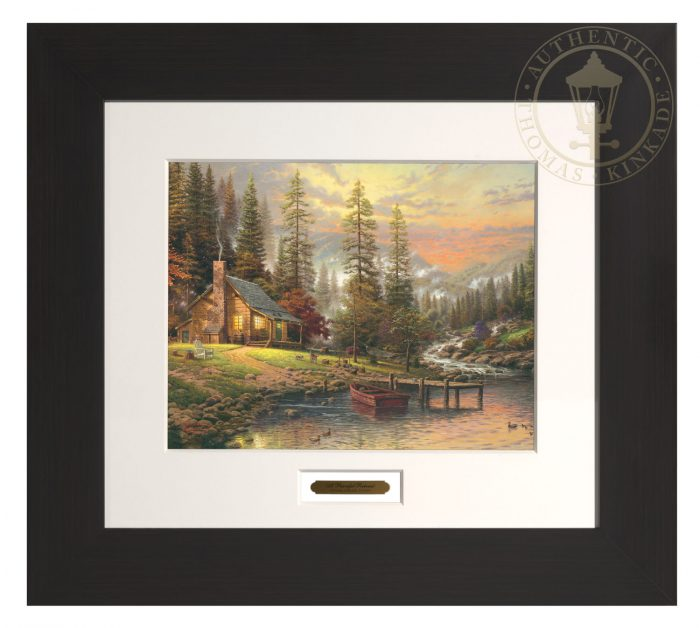 A Peaceful Retreat – 22″ x 24.5″ Modern Home Collection (Espresso Frame)