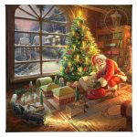 "Santa's Special Delivery - 14"" x 14"" Gallery Wrapped Canvas"
