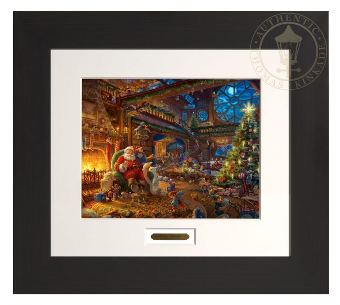 Santa's Workshop – 22″ x 24.5″ Modern Home Collection (Espresso Frame)