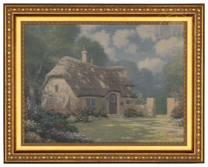 Spring at Stonegate – 15.5″ x 19.5″ Textured Print (Mottled Gold Frame)