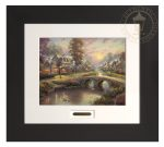 Sunset on Lamplight Lane – 22″ x 24.5″ Modern Home Collection (Espresso Frame)