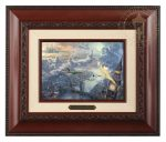 Tinker Bell and Peter Pan Fly to Neverland – 10.5″ x 12.5″ Brushwork (Brushworks Brandy Frame)