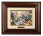 Beauty and the Beast Falling in Love – 10.5″ x 12.5″ Brushworks (Brushworks Burl Frame)