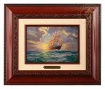 Courageous Voyage – 10.5″ x 12.5″ Brushworks (Brushworks Brandy Frame)