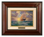 Courageous Voyage – 10.5″ x 12.5″ Brushworks (Brushworks Burl Frame)