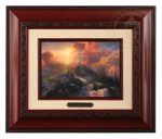 The Cross – 10.5″ x 12.5″ Brushworks (Brushworks Brandy Frame)
