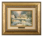 Deer Creek Cottage – 10.5″ x 12.5″ Brushworks (Brushworks Gold Frame)