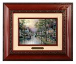 Hometown Morning – 10.5″ x 12.5″ Brushworks (Brushworks Brandy Frame)