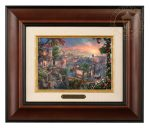 Lady and the Tramp – 10.5″ x 12.5″ Brushworks (Brushworks Burl Frame)
