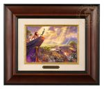 The Lion King – 10.5″ x 12.5″ Brushworks (Brushworks Burl Frame)