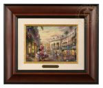 Minnie Rocks the Dots on Rodeo Drive – 10.5″ x 12.5″ Brushworks (Brushworks Burl Frame)