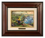 Mickey and Minnie in Ireland – 10.5″ x 12.5″ Brushworks (Brushworks Burl Frame)