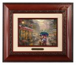 Mickey and Minnie in Paris – 10.5″ x 12.5″ Brushworks (Brushworks Brandy Frame)