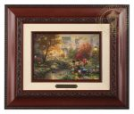 Mickey and Minnie – Sweetheart Central Park – 10.5″ x 12.5″ Brushworks (Brushworks Brandy Frame)