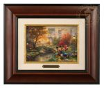Mickey and Minnie – Sweetheart Central Park – 10.5″ x 12.5″ Brushworks (Brushworks Burl Frame)