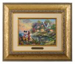 Mickey and Minnie – Sweetheart Cove – 10.5″ x 12.5″ Brushworks (Brushworks Gold Frame)