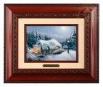 Silent Night – 10.5″ x 12.5″ Brushworks (Brushworks Brandy Frame)