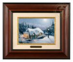 Silent Night – 10.5″ x 12.5″ Brushworks (Brushworks Burl Frame)
