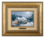 Silent Night – 10.5″ x 12.5″ Brushworks (Brushworks Gold Frame)