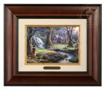 Snow White Discovers the Cottage – 10.5″ x 12.5″ Brushworks (Brushworks Burl Frame)