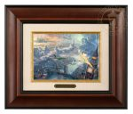 Tinker Bell and Peter Pan Fly to Neverland – 10.5″ x 12.5″ Brushworks (Brushworks Burl Frame)